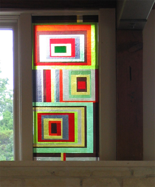 Modern kitchen window, West Austin, Texas